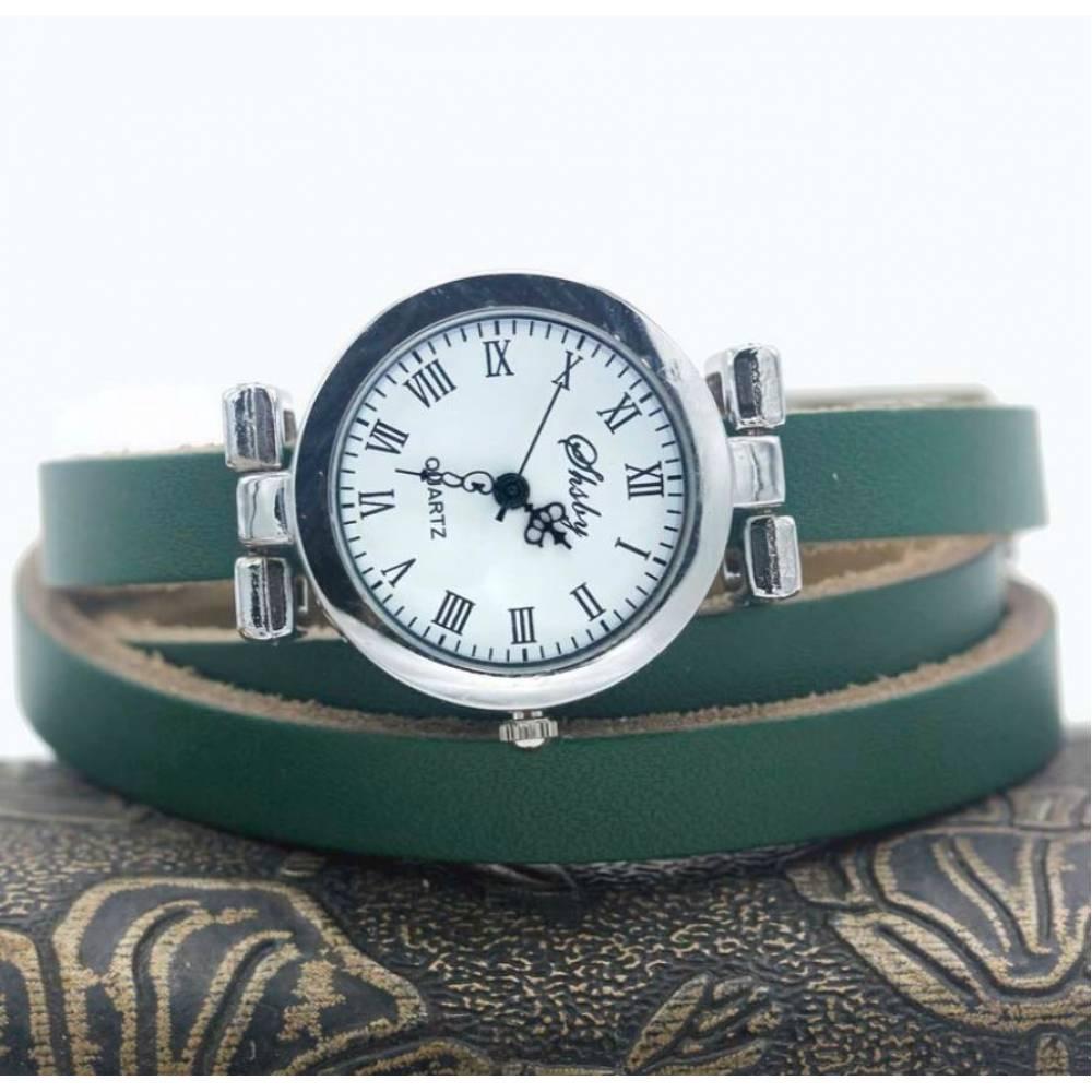 Женские Часы наручные с длинным ремешком, зеленые 9433