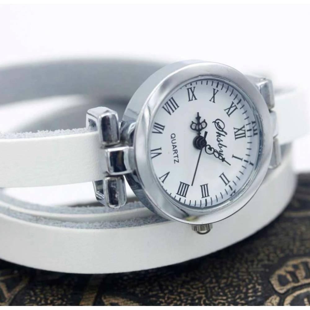 Женские Часы наручные с длинным ремешком, красные 9438