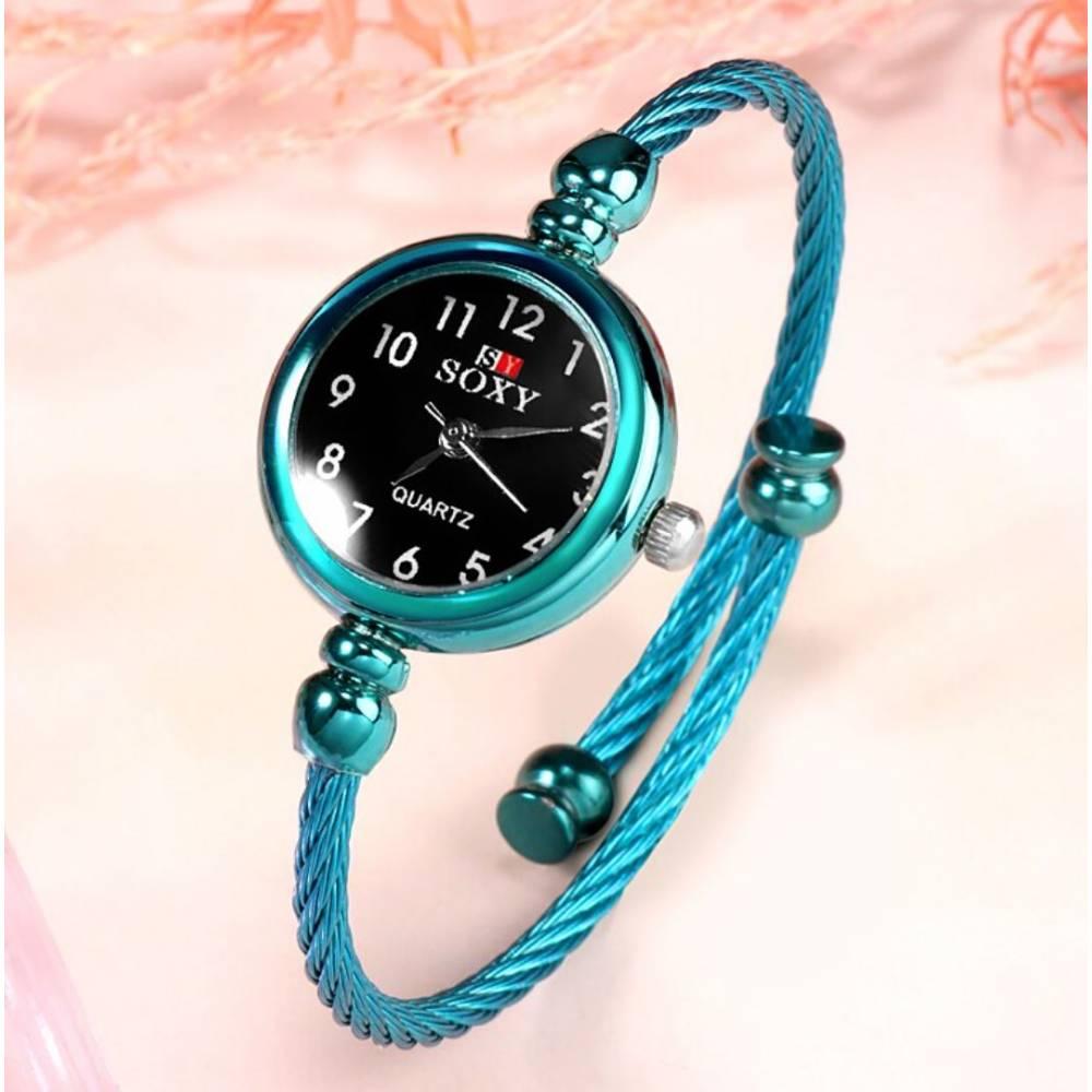 """Женские Часы наручные """"SOXY"""", серебристые 9963"""