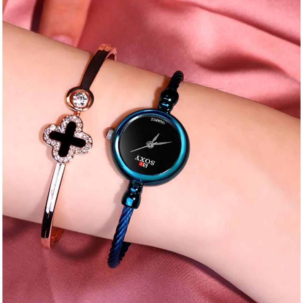 """Женские Часы наручные """"SOXY"""", голубые 9966"""