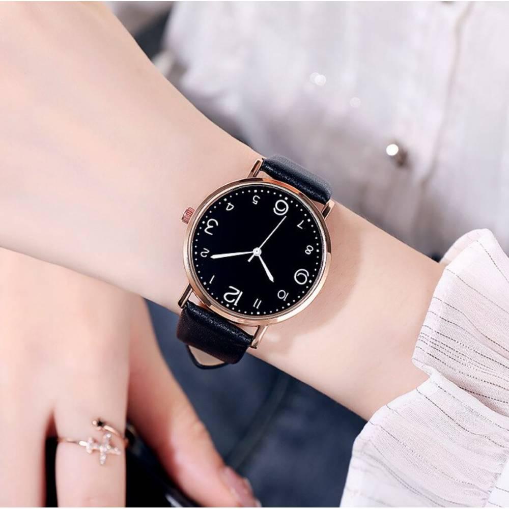 Женские Часы наручные, черные 9984