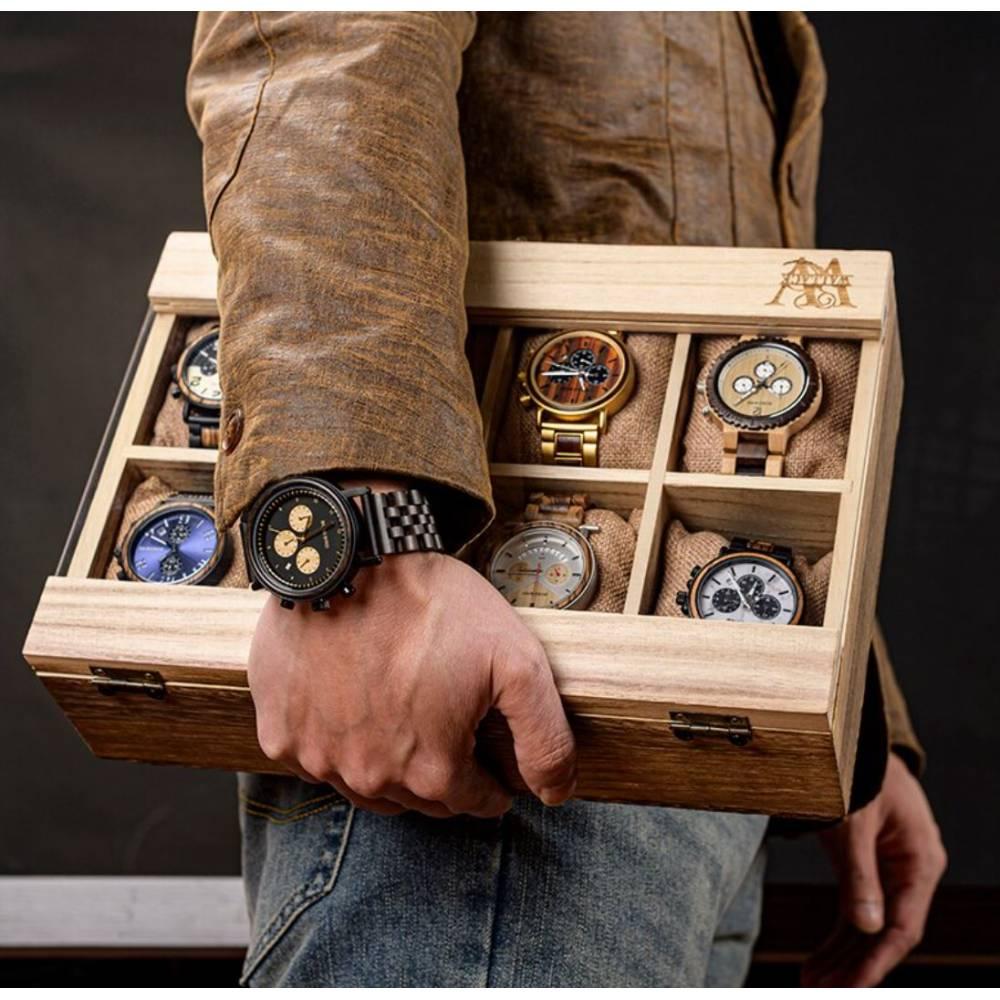 Деревянная шкатулка для часов, 8 шт 10003