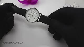 Женские Часы наручные черные с белым 2742